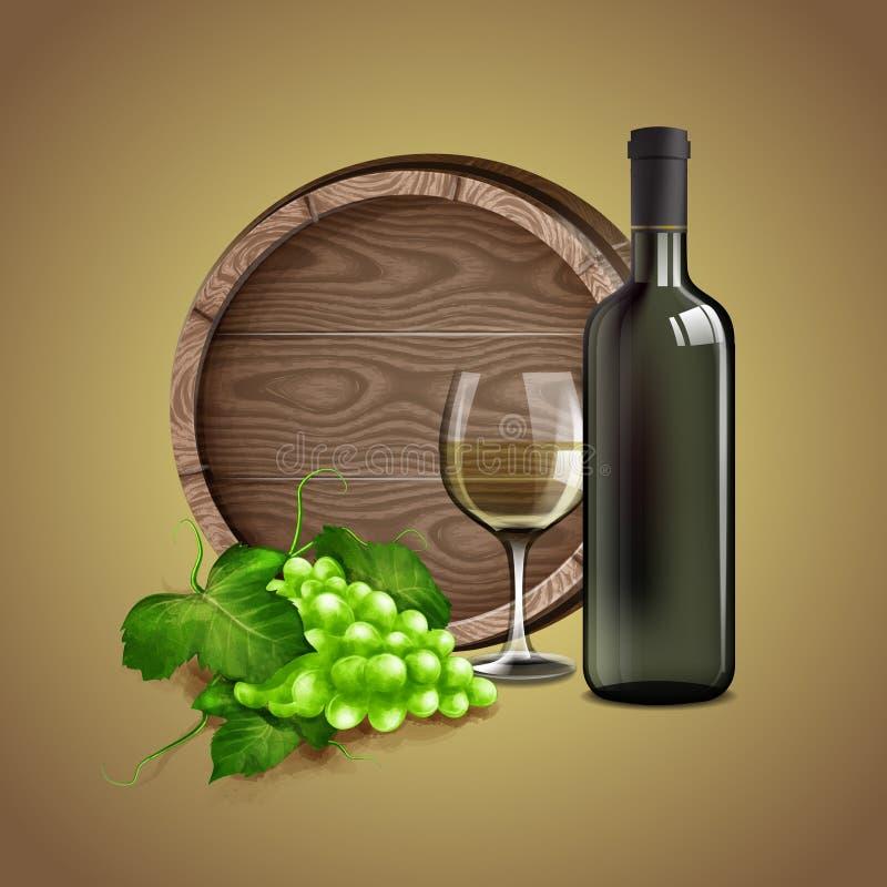 Wino bielu dom ilustracja wektor
