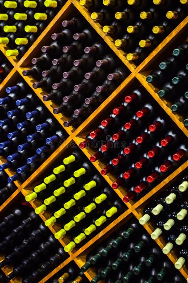 Wino butelką zdjęcie stock