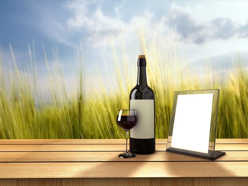 Wino butelka ilustracja wektor