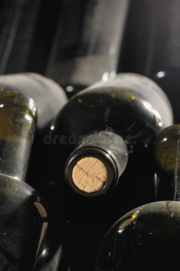 Wino Butelki zdjęcia stock
