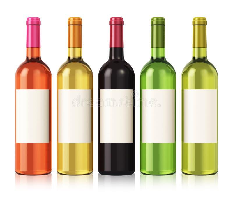 Wino butelki ilustracja wektor