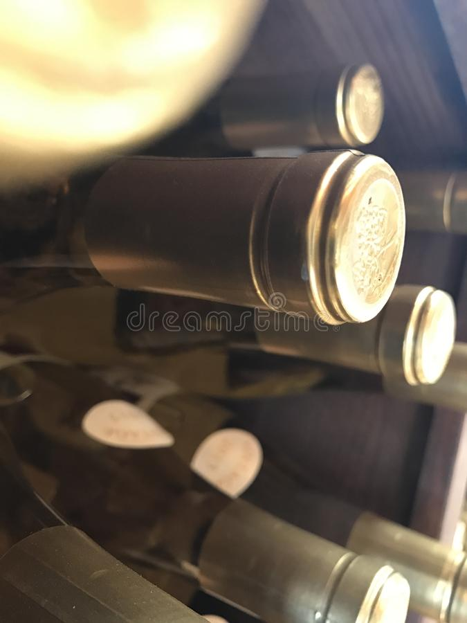 Wino butelki pieczętowali 4 zdjęcie stock