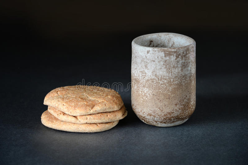 wino chlebowy obrazy stock