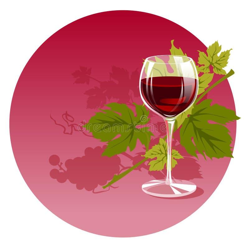 Wino czerwieni szkła zieleni gronowa wakacyjna kuchnia obraz royalty free