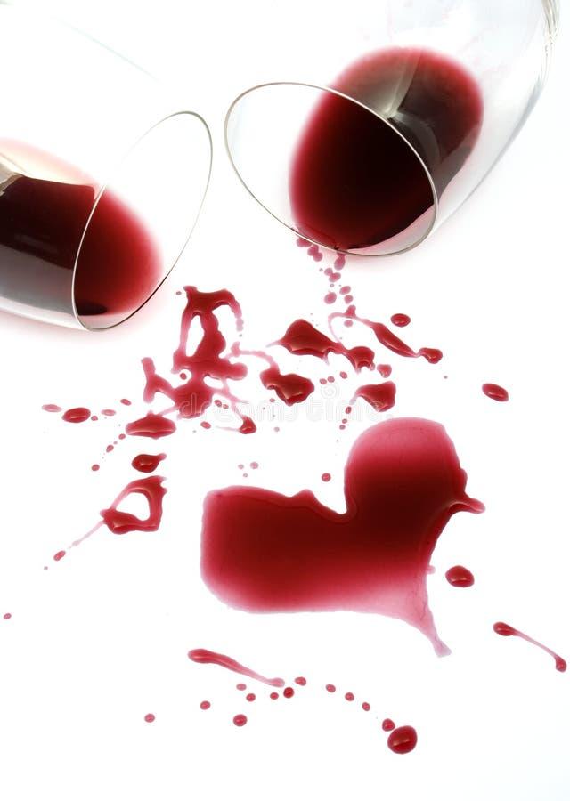 wino czerwone romans zdjęcie royalty free