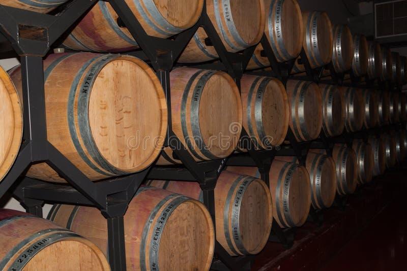 Wino dębu baryłki zdjęcia royalty free
