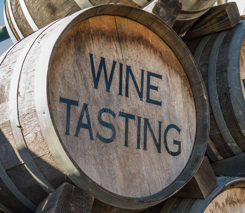 Wino degustaci baryłka obrazy royalty free