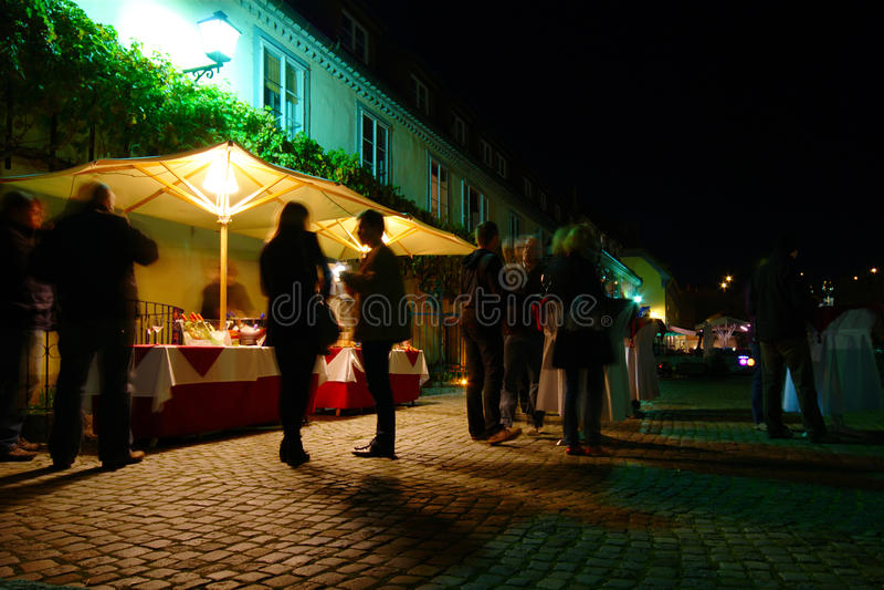 Wino degustacja Przy Starym winogradu domem, Maribor, Slovenia obraz royalty free