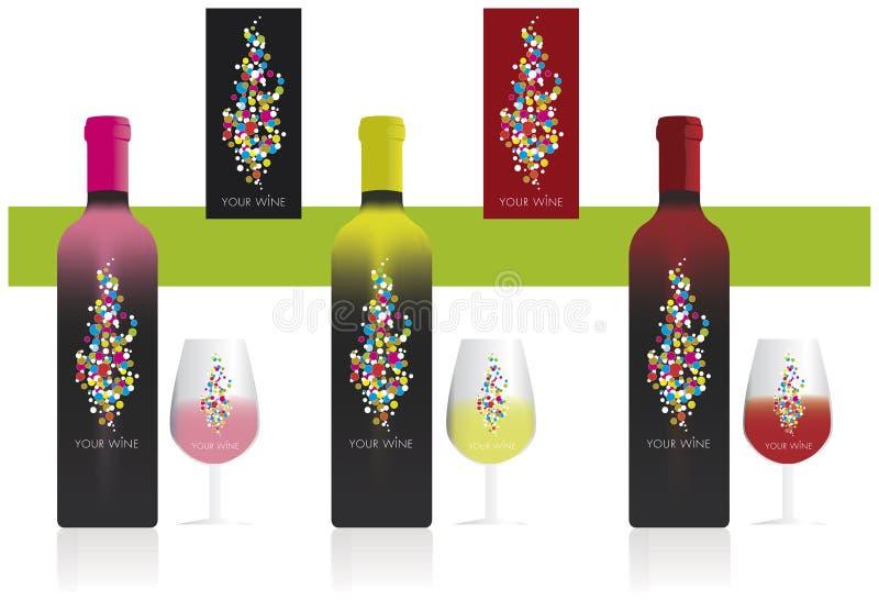 Wino etykietka ilustracji