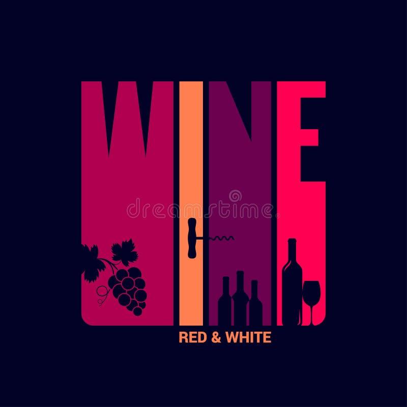 Wino etykietki projekta tło royalty ilustracja