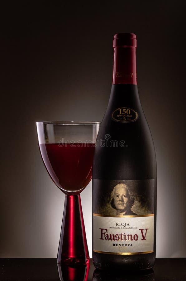 Wino, Faustino V zdjęcie royalty free