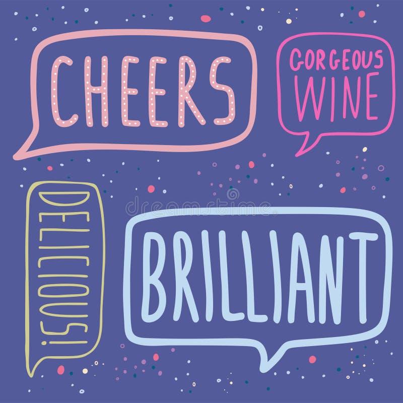 Wino festiwal Majchery o winie ilustracji