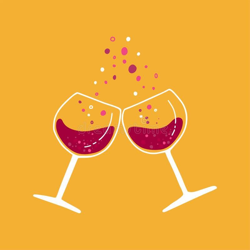 Wino festiwal Szkła wino ilustracja wektor