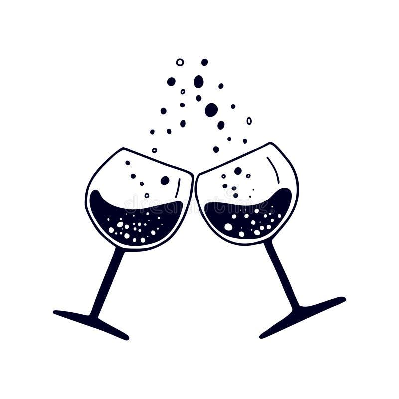 Wino festiwal Szkła wino royalty ilustracja
