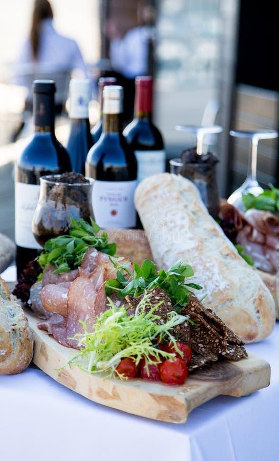 Wino i chleb obrazy royalty free