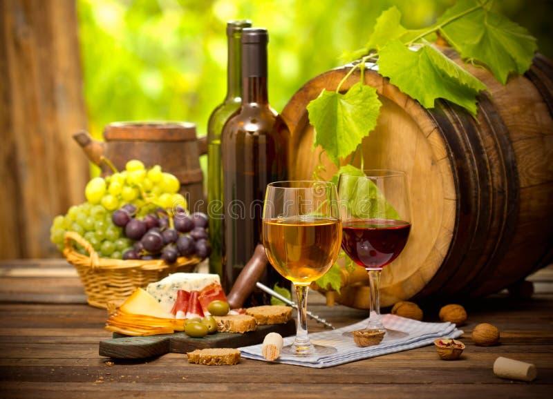 Wino i ser fotografia stock