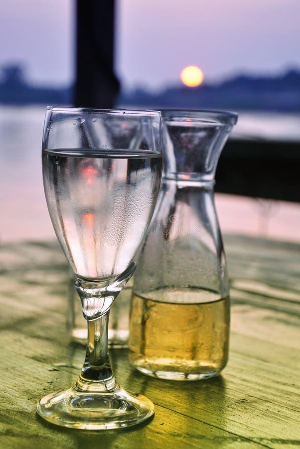 Wino i soda fotografia stock