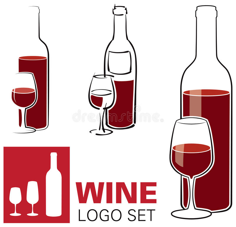 Wino i Szkła Logo ilustracji