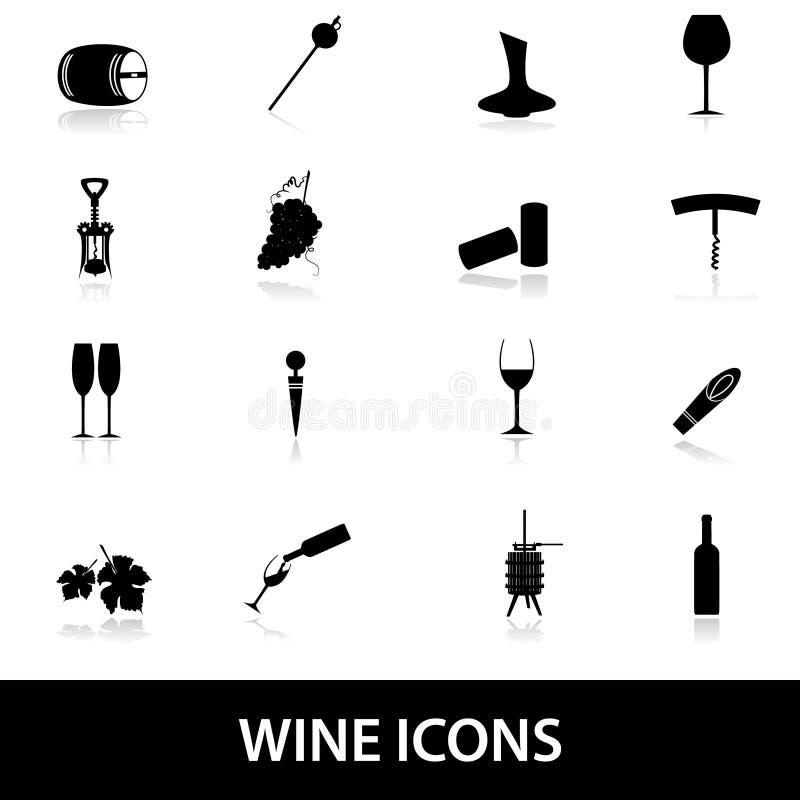 Wino ikony eps10 royalty ilustracja