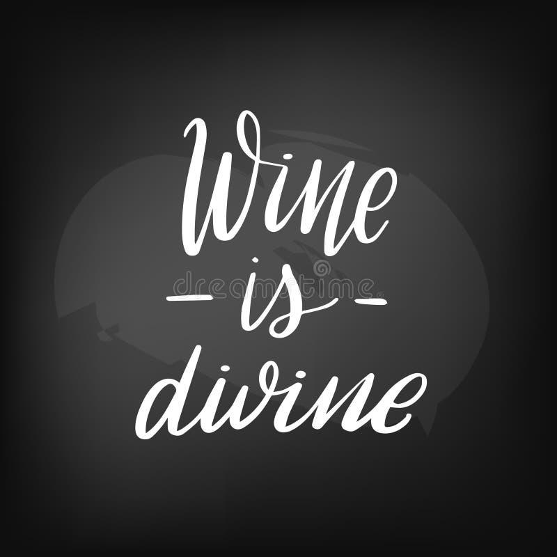 Wino jest boski ilustracji