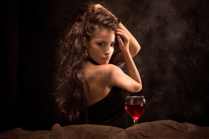wino kobieta zdjęcie stock