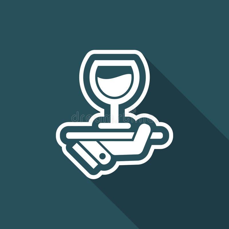 Wino listy ikona royalty ilustracja