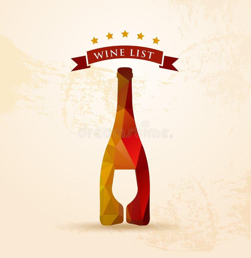 Wino listy menu royalty ilustracja