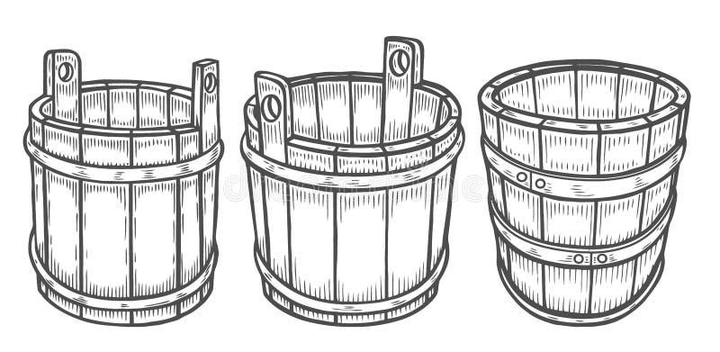 Wino lub piwna baryłka odizolowywający ilustracja wektor