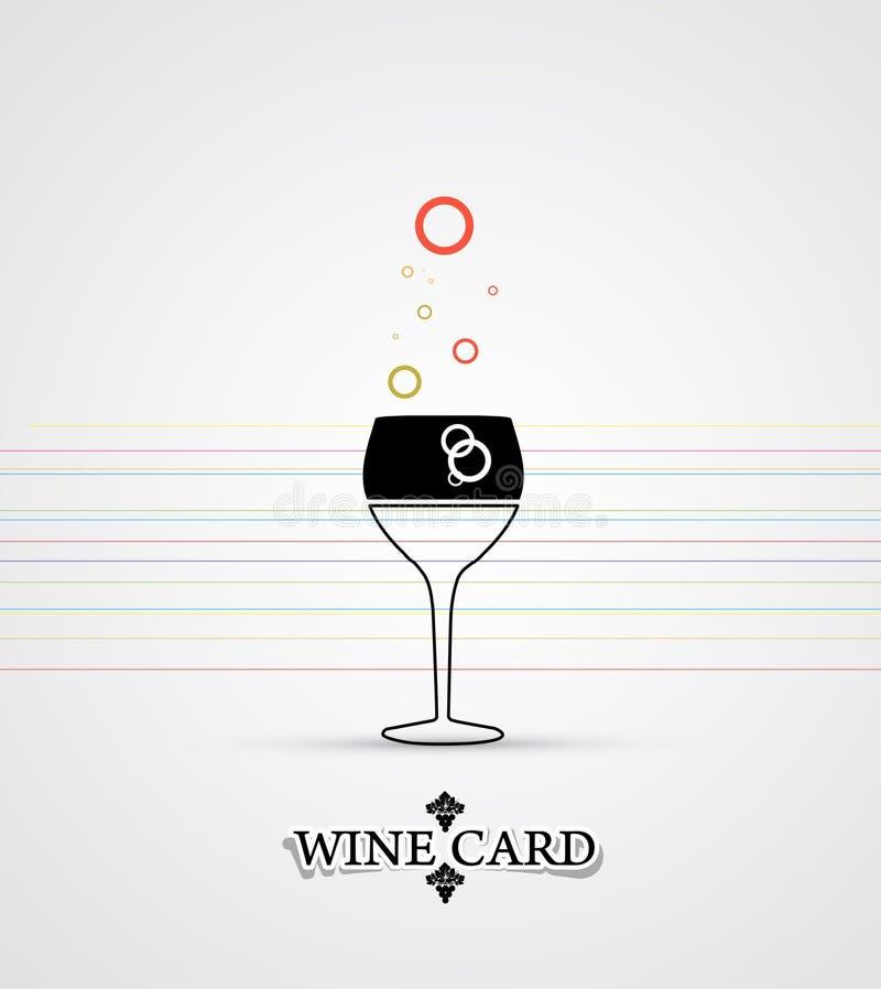 Wino menu karcianego projekta tło royalty ilustracja