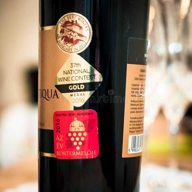 Wino nagród wina konkursu Krajowy złoto zdjęcia stock