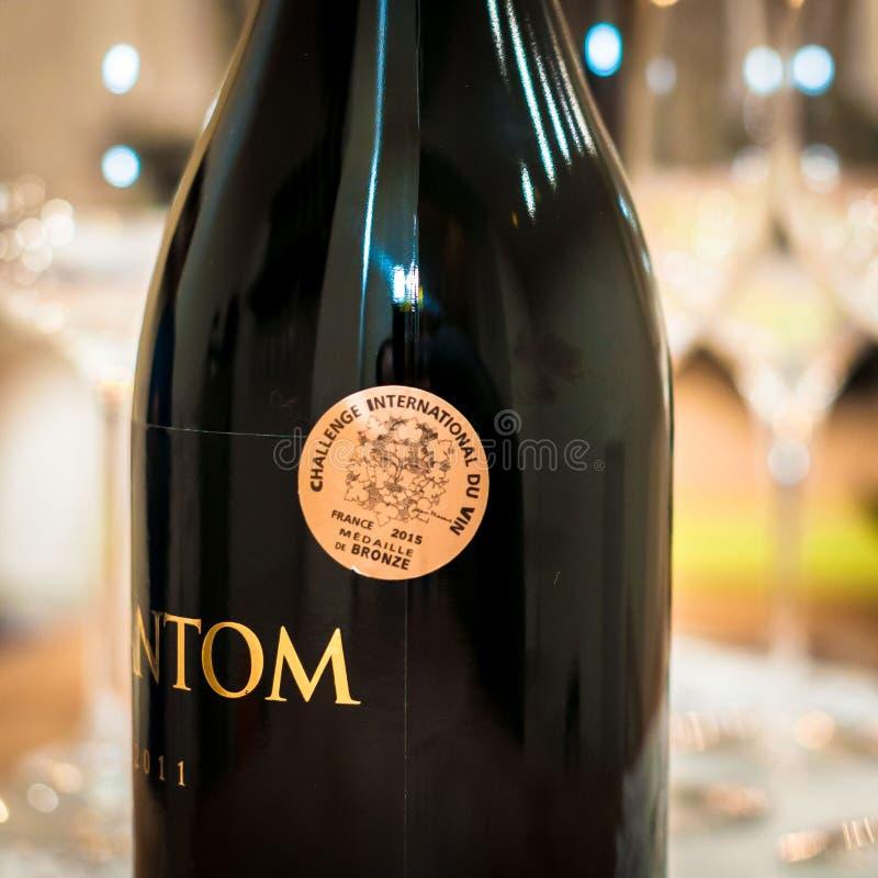 Wino nagród wyzwania Zawody międzynarodowi Du Vin złoto zdjęcie royalty free