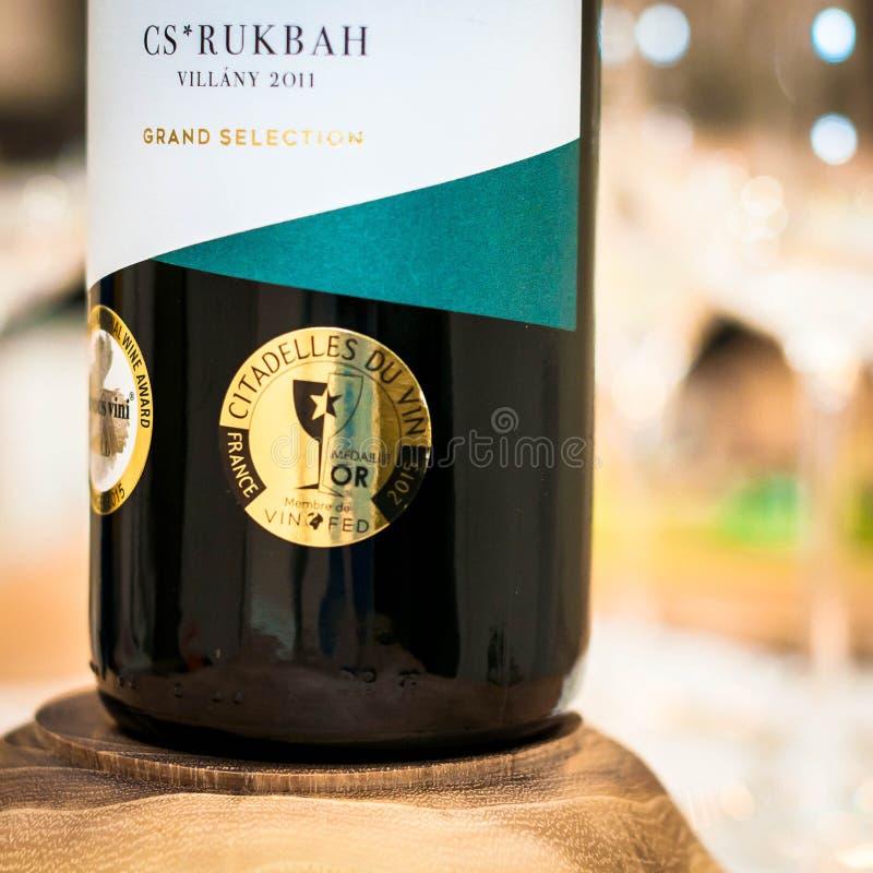 Wino nagradza Citadelles Du Vin Lub fotografia stock