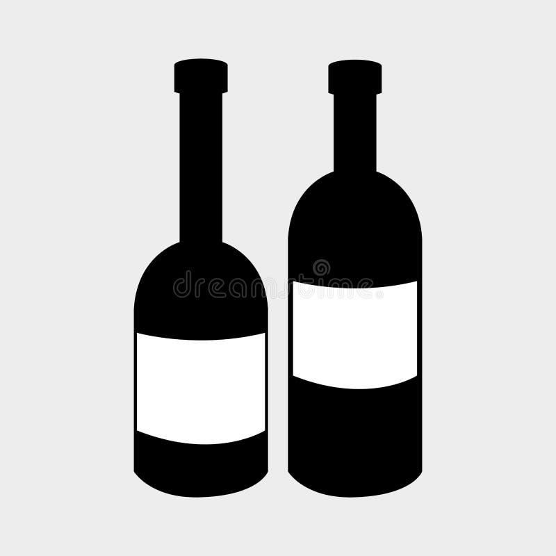Wino napoju graficzny projekt z ikonami royalty ilustracja