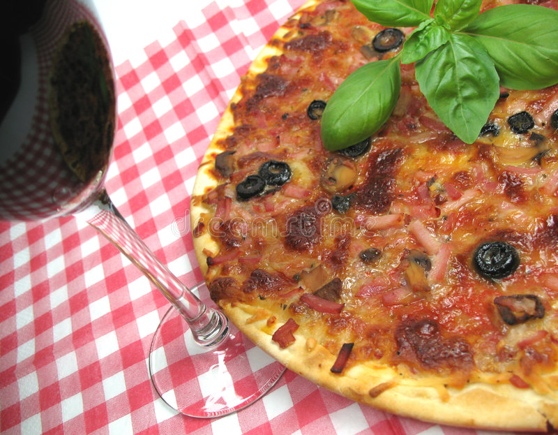 wino pizzy zdjęcia stock