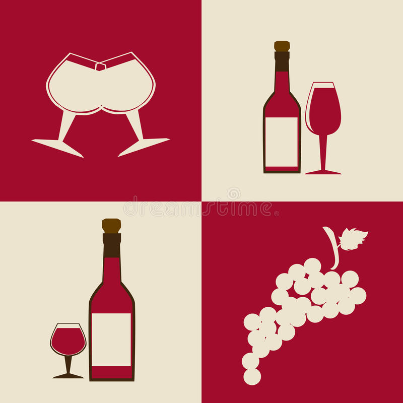 Wino projekt ilustracja wektor
