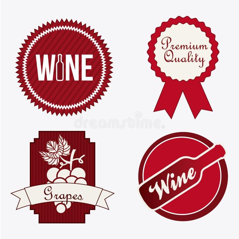 Wino projekt royalty ilustracja