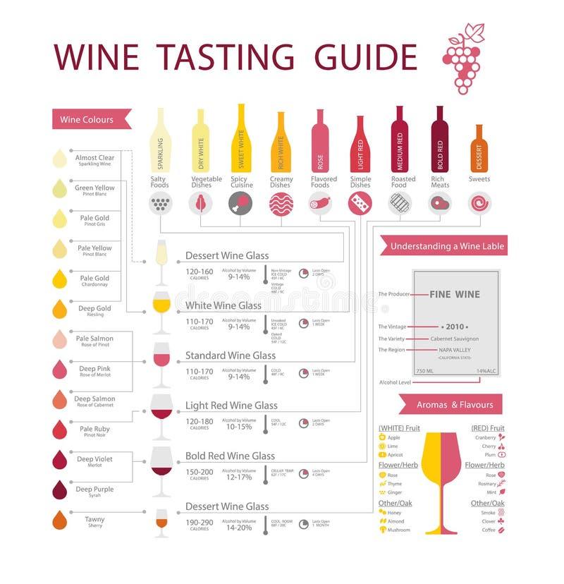 Wino przewdonik ilustracja wektor