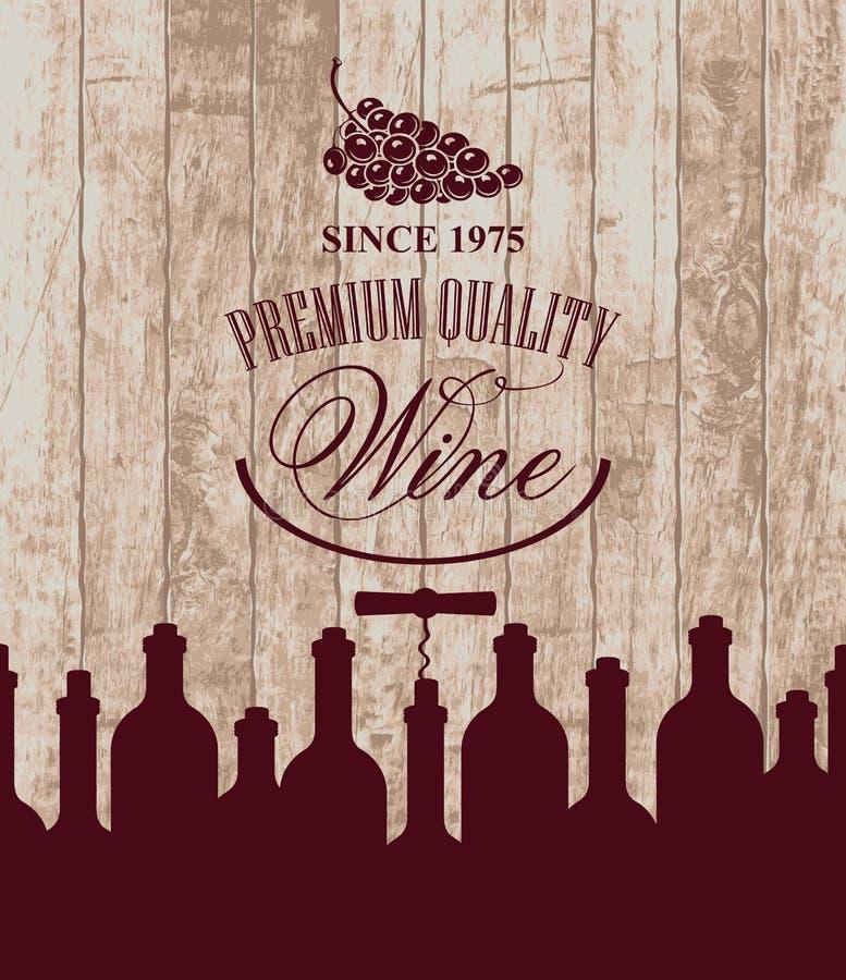 Wino restauracja lub sklep ilustracja wektor