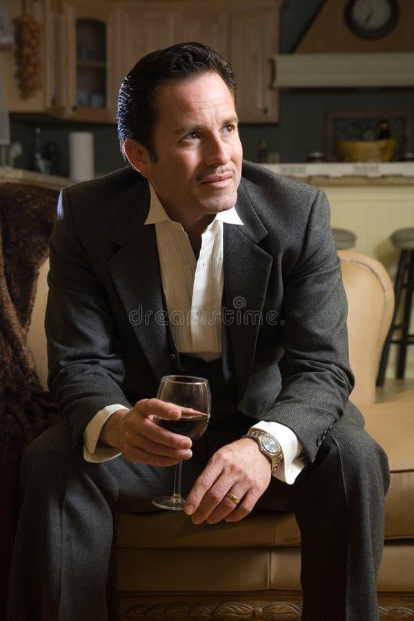 wino szklana pracy fotografia stock
