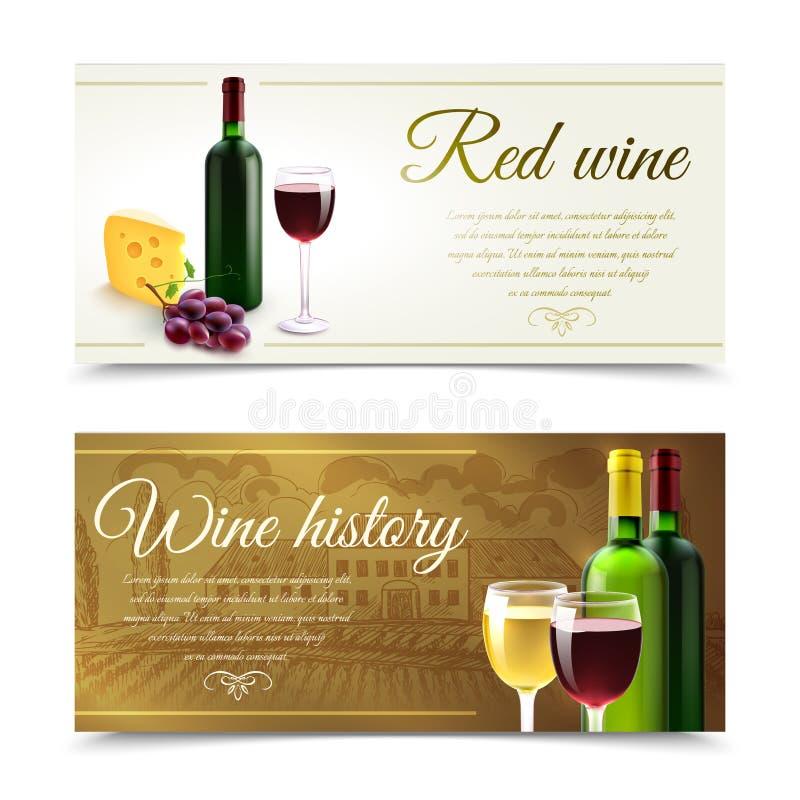 Wino sztandary Z serem ilustracji