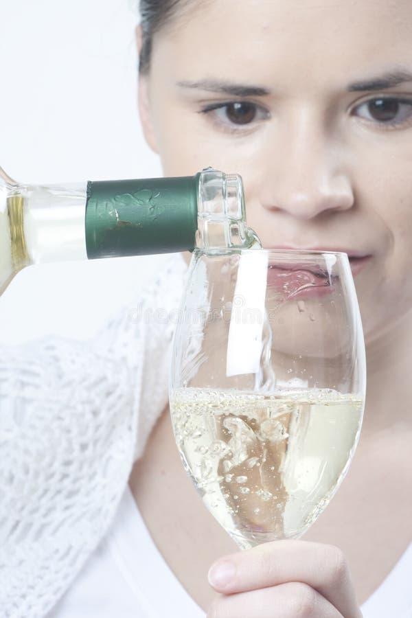 wino TARGET661_1_ kobieta fotografia stock