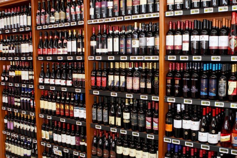 Wino włoski sklep zdjęcia stock