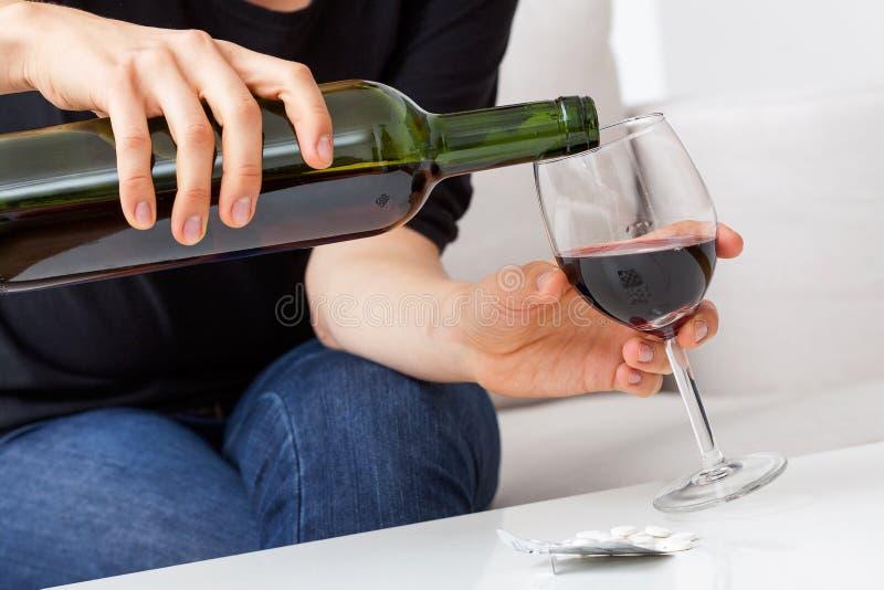 Wino w szkle obraz royalty free
