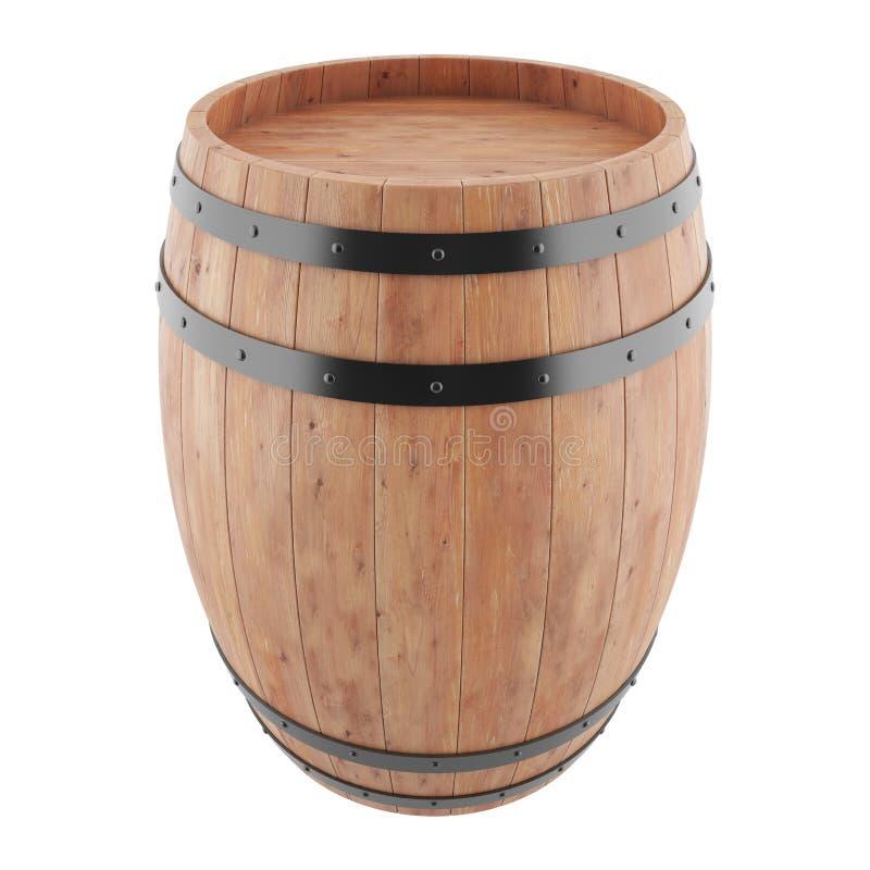 Wino, whisky, rum, piwo, baryłka ilustracja wektor