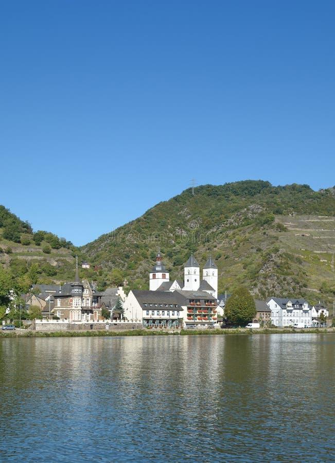 Wino wioska Treis-Karden, Mosel dolina, Niemcy zdjęcie stock