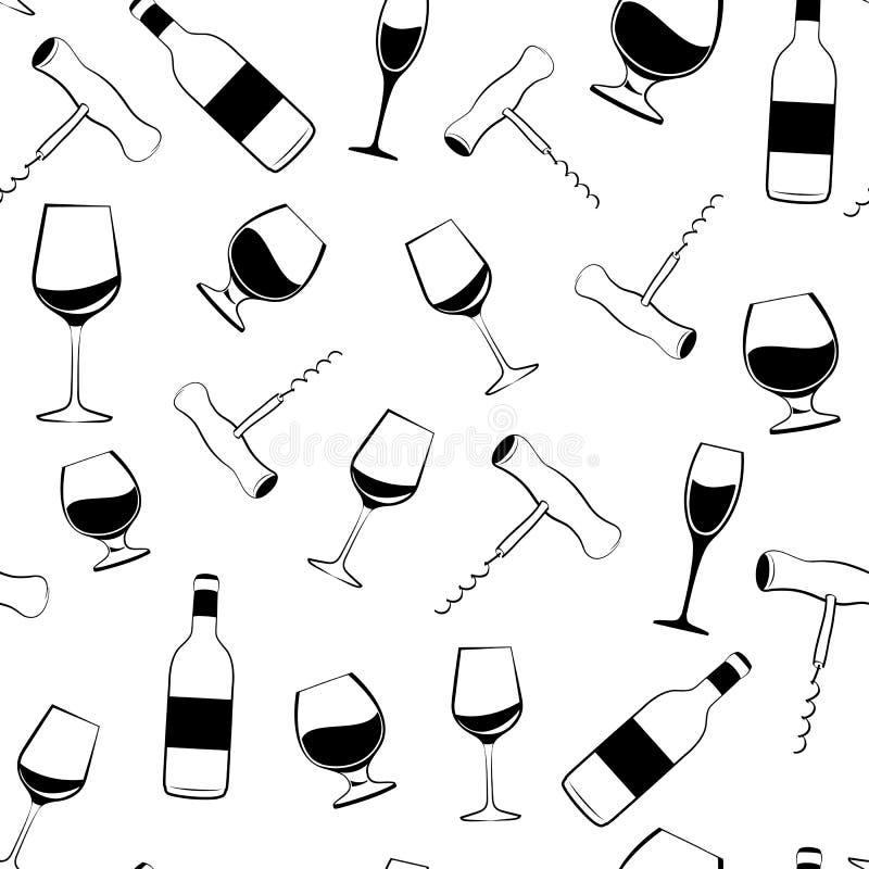 Wino wzór ilustracji