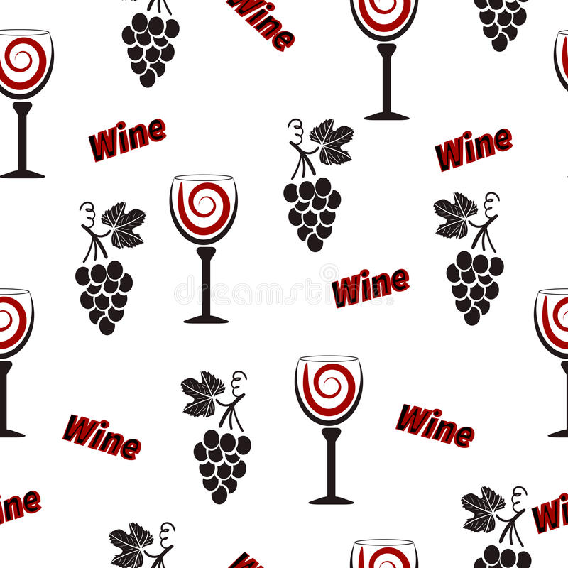 Download Wino Wzór Alkoholu Bezszwowy Tło Z Wineglasses Ilustracja Wektor - Ilustracja złożonej z glassblower, czerń: 65226308