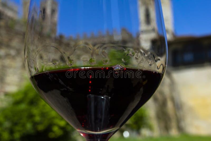 Wino z romansem Wino i kasztel Kasztele Tuscany wina region Chianti, Włochy obraz royalty free