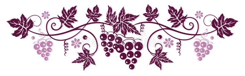 Winograd z winogronami royalty ilustracja