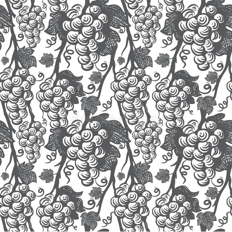 Winogradu bezszwowy wzór ilustracji